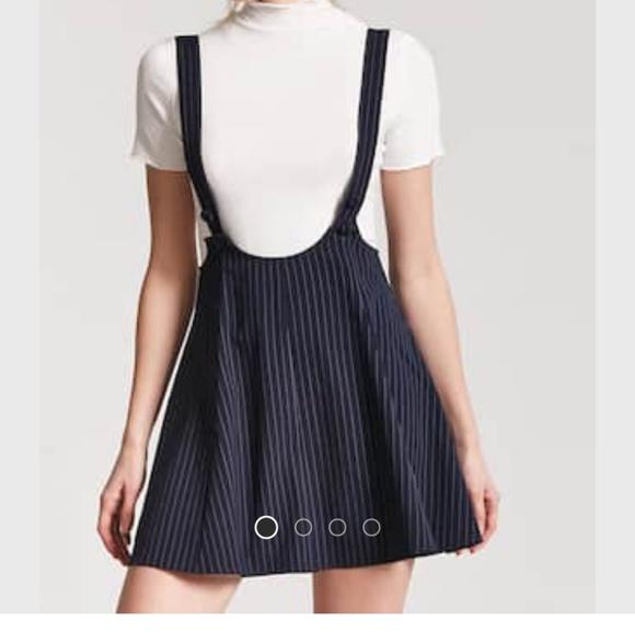 17bd8bc5d8 Forever 21 Dresses   Skirts - Pinstripe Overall Dress Forever 21